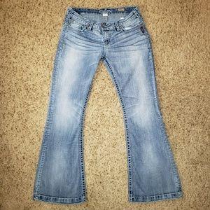 Silver Camden Rose Bell Bottom Women's Jeans